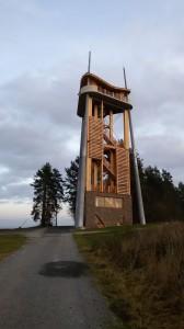 rozhledna na Rýdově kopci - nejvyšší místo trati